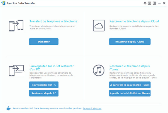 ouvrir data transfer